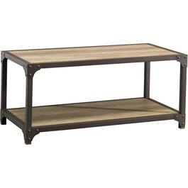 Grey Metal Rectangular Cocktail Table thumb