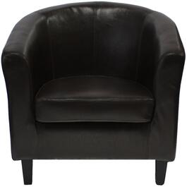 Brown Leather Like Reception Chair thumb