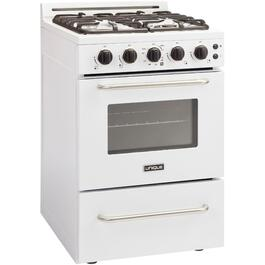 "24"" White Classic Convection Gas Range thumb"