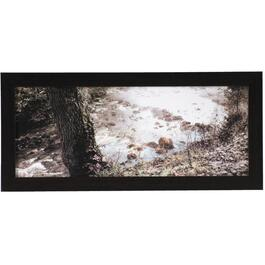 "9-3/4"" x 21-3/4"" Stream and Rocks Framed Wall Plaque thumb"