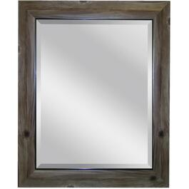 "22"" x 26"" Grey Bark Wall Mirror thumb"