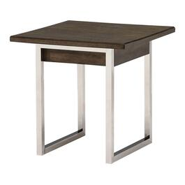 Walnut/Metal Square End Table thumb