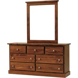 7 Drawer Decora Mahogany Dresser thumb