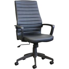 Black Leather Match Modern Office Chair thumb