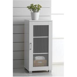 1 Door White Edison Slim Cabinet thumb