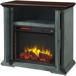 "Westin 38"" Electric Infrared Fireplace/TV Stand, Aged Indigo Finish thumb"