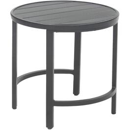 "19"" Slat Round Aluminum Side Table thumb"