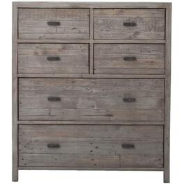 6 Drawer Black Olive Caminito Tallboy Chest thumb