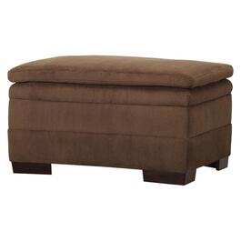 Coffee Dover Rectangular Storage Ottoman thumb