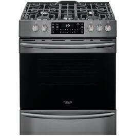 "30"" Black Stainless Steel Convection Gas Range thumb"