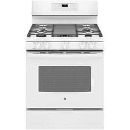"30"" White Self Cleaning Gas Range thumb"