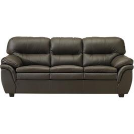 Brown Leather Match Sofa thumb