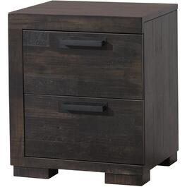 2 Drawer Left Hand Facing Graphite Mirabel Night Table thumb