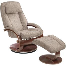 Graphite Teatro Oslo Swivel Recliner, with Ottoman thumb