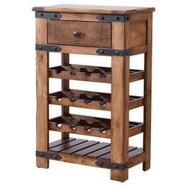 1 Drawer Parota Wine Cabinet, Holds 12 Bottles thumb