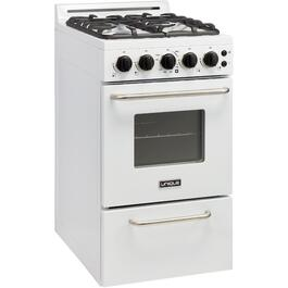 "20"" White Classic Plus Convection Gas Range thumb"