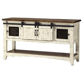 White Pueblo Rectangular Sofa Table thumb