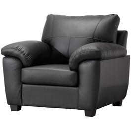 Black Madras Leather Match Chair thumb