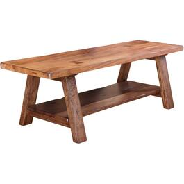 Parota Solid Wood Bench, with Shelf thumb