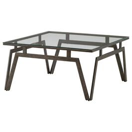 Taupe Metal Square Coffee Table thumb