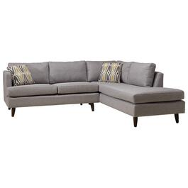 2 Piece Grey Juno Enya Sofa Sectional, with Chaise thumb