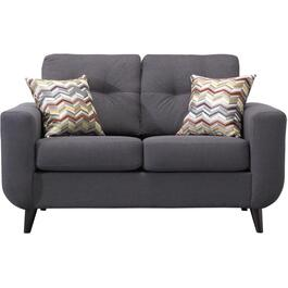 Charcoal Infinity Loveseat thumb
