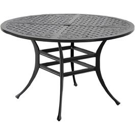 "48"" Tuscany Round Cast Aluminum Dining Table thumb"