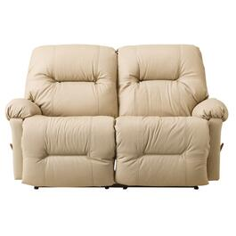 Mushroom Leather Recliner Loveseat thumb