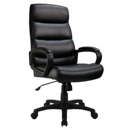 Black Leather Like High Back Office Chair thumb