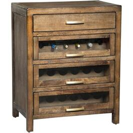 4 Drawer Mink Server, with Wine Rack thumb