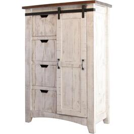 4 Drawers White Pueblo Chest thumb