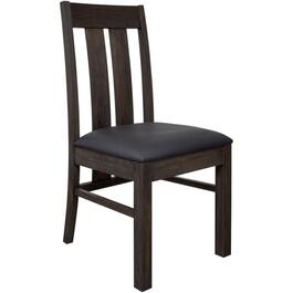Forest Black Adam Wood Side Chair, with Upholstered Seat thumb