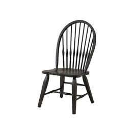 Black Bow Back Wood Side Chair thumb