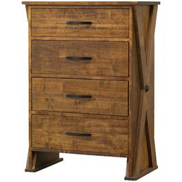 4 Drawer Ancaster Pecan Chest thumb
