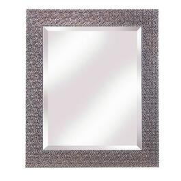 "27.5"" x 33.5"" Espresso and Silver Wall Mirror thumb"