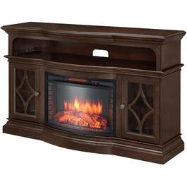 "Stevenson 60"" Electric Infrared Media Fireplace, Espresso Finish thumb"
