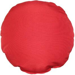 "16"" Round Solid Red Throw Pillow thumb"