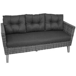 3 Seat Seville Wicker Sofa, with Cushions thumb