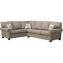 2 Piece Beige Textured Sofabed Sectional thumb