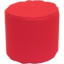 "16"" x 17"" Round Red Fabric Ottoman thumb"