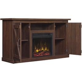 Saw Cut Espresso Electric Fireplace/TV Stand thumb