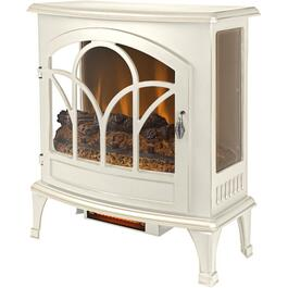 "25"" Electric Infrared Curved Front Panoramic Stove, Aged White Finish thumb"