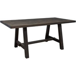 Forest Black Adam Rectangular Dining Table thumb