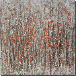 "46"" x 46"" Abstract Poppies Wall Plaque thumb"