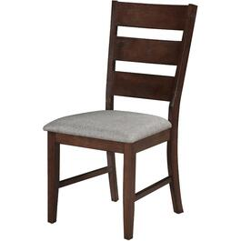 2 Pack Grayson Wood Side Chairs, with Upholstered Polyester Seat thumb