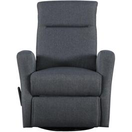 Dark Grey Swivel Space Saver Glider Recliner thumb