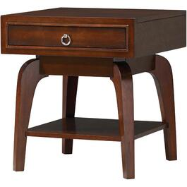 Retro Walnut Square End Table thumb