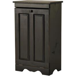 Distressed Black Tilt Bin, with Plastic Insert Bin thumb