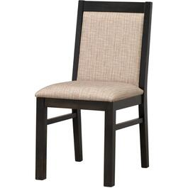 Graphite Burnaby Wood Side Chair, with Upholstered Seat and Back thumb