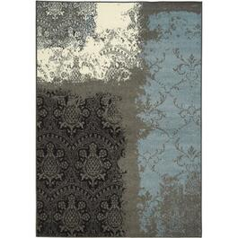 6' x 11' Casa Blue/Grey/Black Contemporary Area Rug thumb